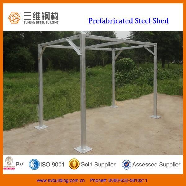 Prefabricados de acero galvanizado cobertizos estructuras for Precio cobertizos prefabricados