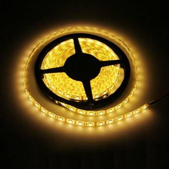 Ecloud ShopUS® 10 pieces 5M Warm White LED 5050 SMD Flexible Light Lamp Strip 12V DC Waterproof