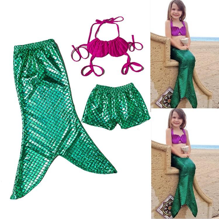 ed778f37dcf72 Ariel The Little Mermaid Tail Princess Ariel Dress Cosplay Costume Kids For  Girl Fancy Green Dress Swimsuit Swimming Suit - Buy Mermaid ...
