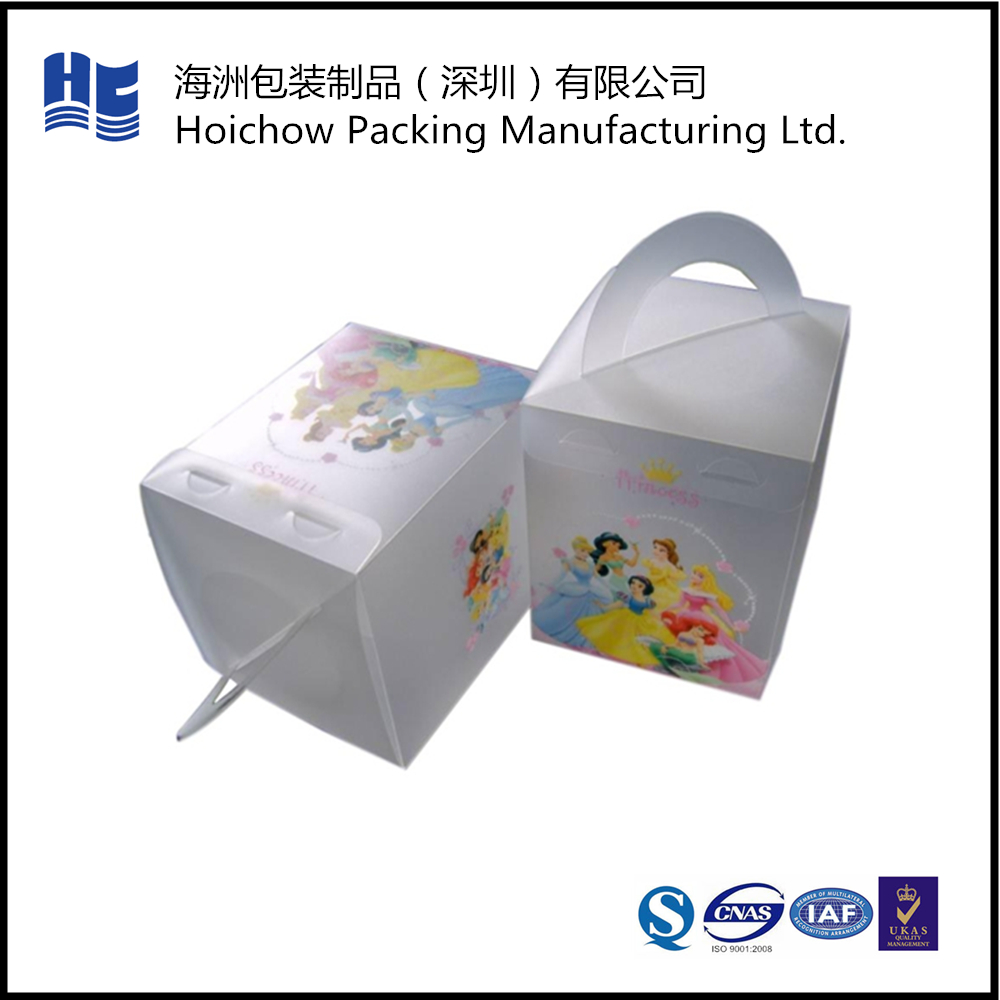 Hanging hard transparent clear plastic packaging box for chocolate candy
