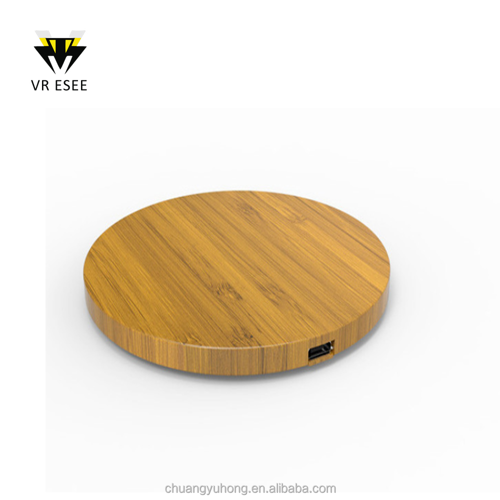 Wood/Bamboo portable QI manufacturer Wireless Charger For Mobile Phone