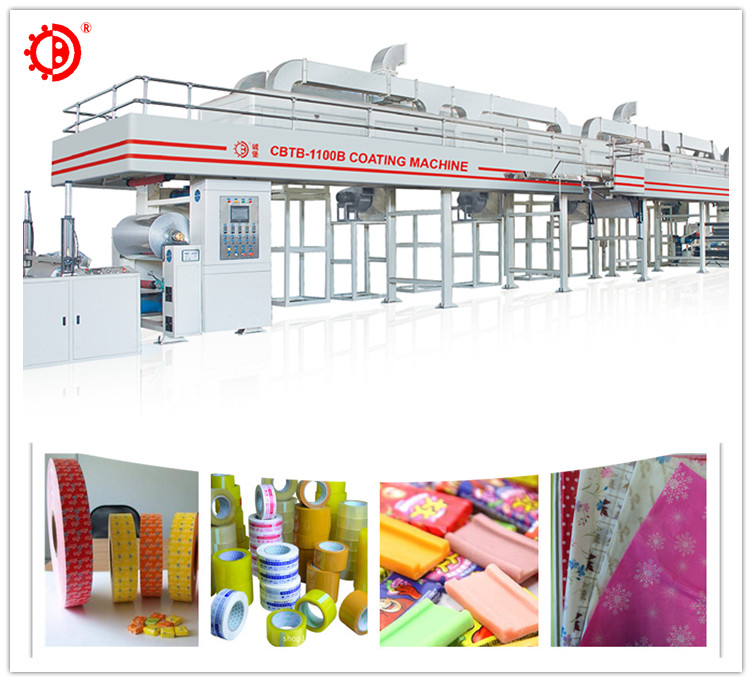 Automatische pvc film adhesive label coating machine