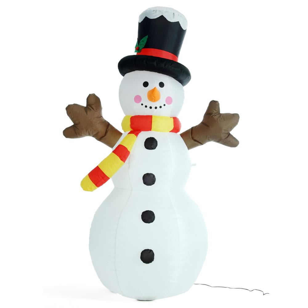 6 Foot / 180cm Christmas Inflatable Snowman With Led Light Yard ...