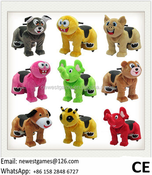 2017 The Latest Design Battery Coin Operated Plush Walking Animal Rides