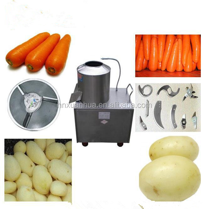 Industrial stainless steel automatic potato peeling machine/potato peeler and cutter