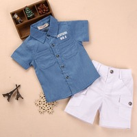 summer latest online hot selling boutique cute baby boy clothes set