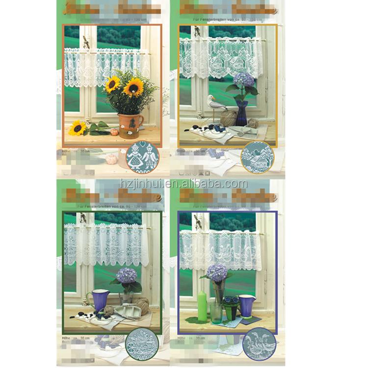 Encaje blanco encaje hecho a mano cortina de café, cocina cortina ...