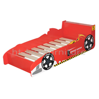 158x73x(H)45.5cm Silk Screen Printed Easy Assembly MDF E1 Children Car Bed For Wholesale, Kids Car Shape Bed