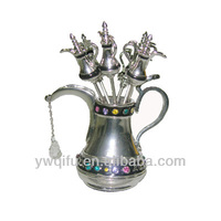 Magic aladdin oil lamps metal jeweled trinket box(QF2984)