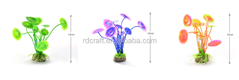 Hot Koop Aquarium Planten Decoratie Aquarium Dompelpompen Bloem Gras Decor Ornament 10-12 cm 20 Stijlen Optionele