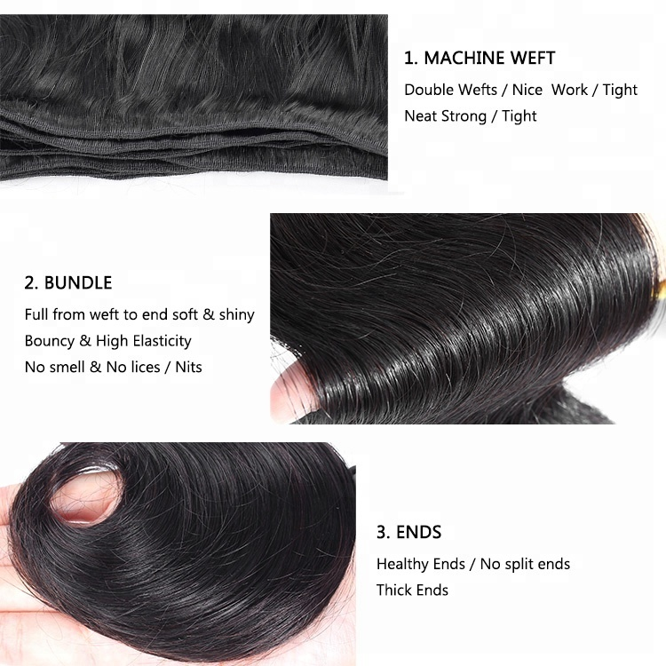 Cuticle Aligned Raw Indian Temple Human Hair Bundle From India
