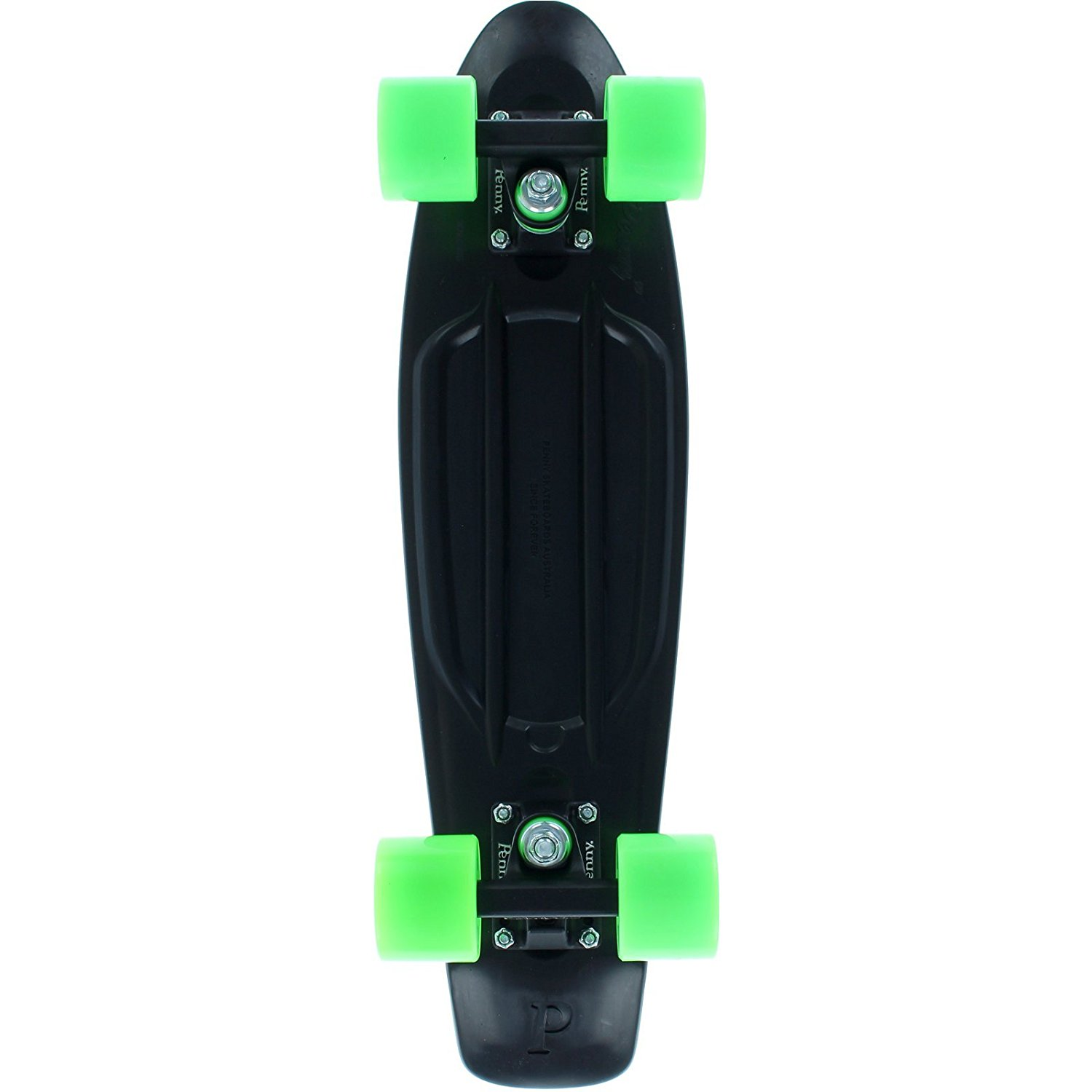 "Penny 22"" in Midnight Black/Green - Complete Skateboard - 100% Brand New Original!"
