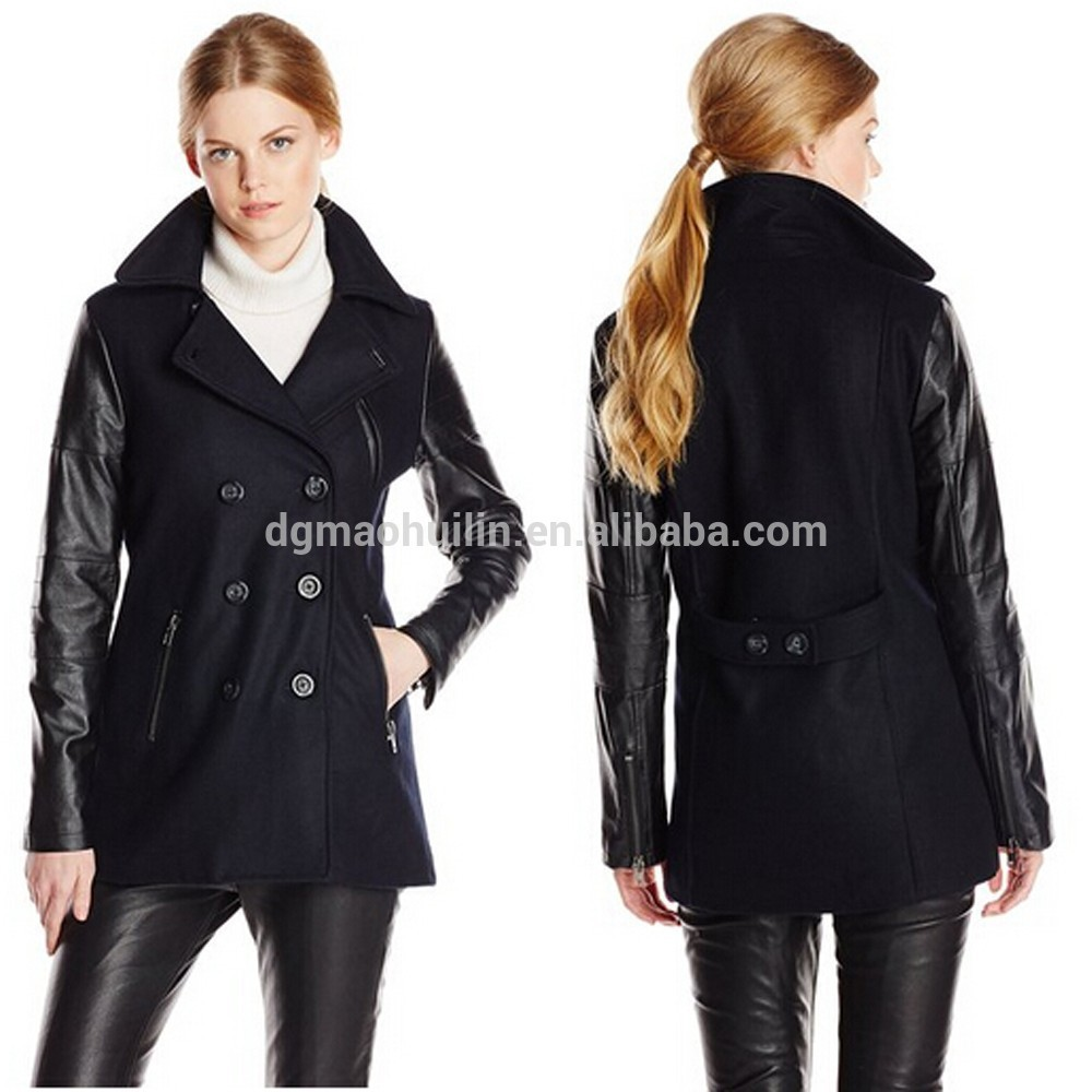 2015 Winter Fashionable Ladies Hooded Parka Coat With Faux Fur