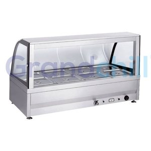 Counter Table Top 10 Pots Stainless Steel Electric Food Warmer Bain Marie with Glass Top Cover