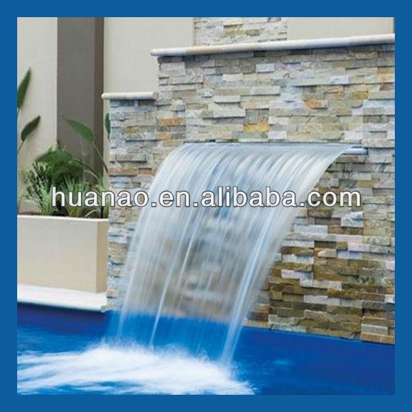piscina fuente de agua fuente de lluvia cascada de decoracin de la pared