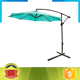 Light blue color post side garden parasol with crank handle system
