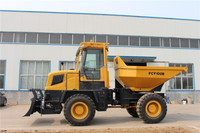 FCY100 10 ton articulated 180 rotating front small dump truck
