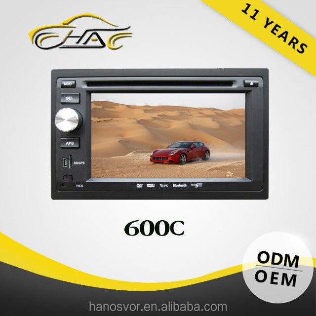 hot sales hd dvd OEM 6.2 inch double din universal in dash car dvd play with gps navigation