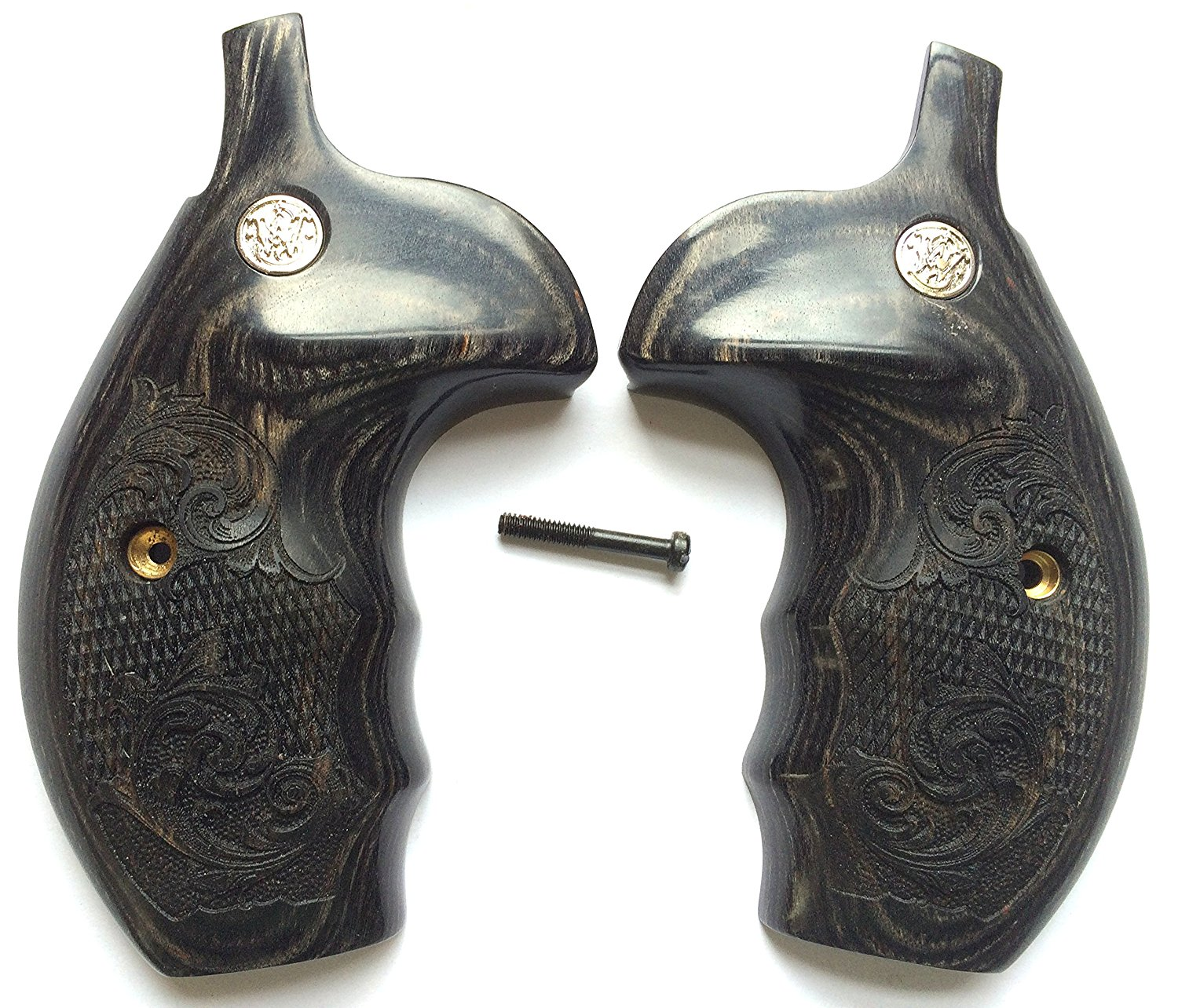 Buy Smith & Wesson Grips S&W K/L/X Frame Grips Silverblack with ...
