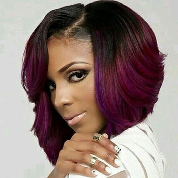 8 Inch Short Brazilian Body Wave Ombre Color Beautiful Style Cheap