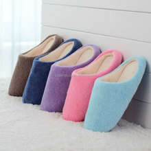 Cheap Winter Couple Shoes Indoor Cotton Slippers