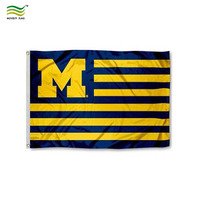 Striped Michigan Wolverines Flag