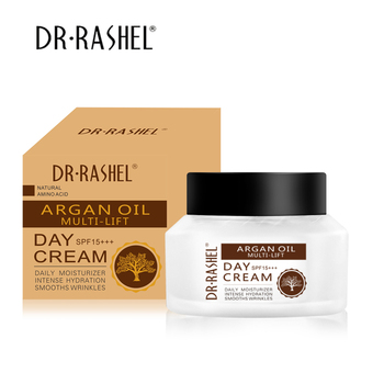 DR.RASHEL Argan Oil Daily Face Moisturizer Intense Hydration Smooth Whitening Cream Anti Wrinkle Day Cream SPF 15