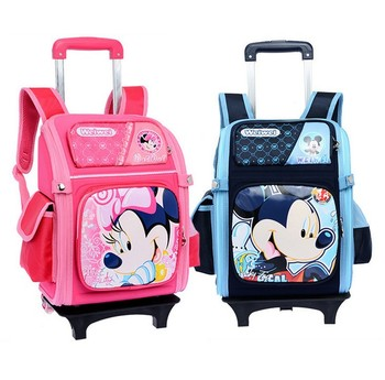 Kids School Bag With Wheels Trolley