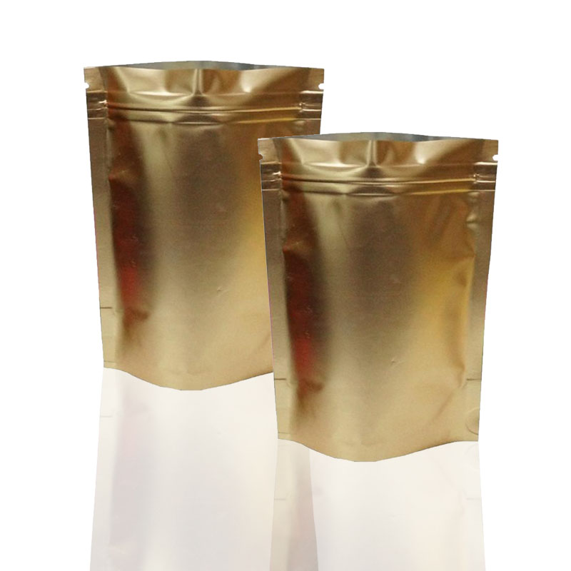 Best price custom printing food grade aluminum foil smell proof mylar zip bag small for tea / weed