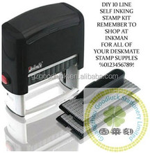 DIY text pre-inked self-inking stamper/DIY text auto self-inker