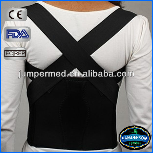 Black neoprene posture corrective brace/ Orthopaedic Breathable Posture correction belt