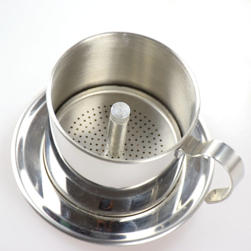 304 Stainless Steel Moka pour over iced drip filter pot /hario coffee machine resuable milk boiling Vietnamese pot