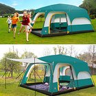 8 persons Tent Triple Camping Tent Three Rooms Family Camping Tents Well-ventilated Waterproof Ultraviolet Resistant Anti-insect