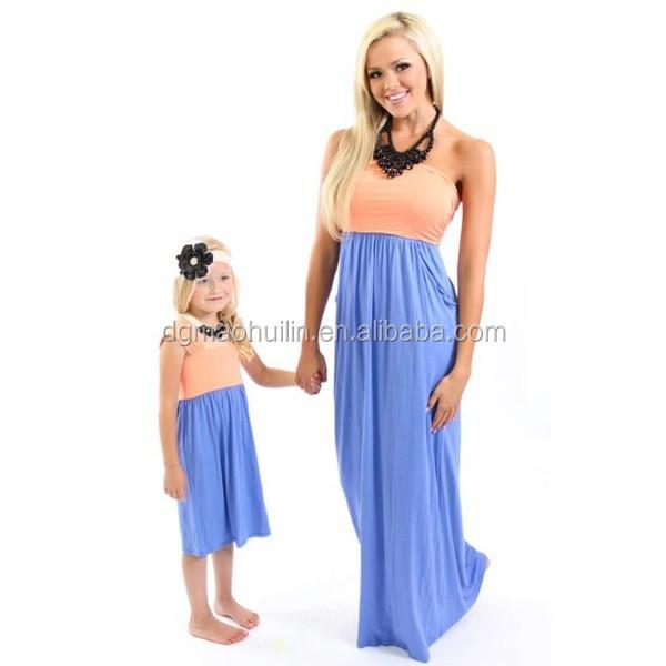 Maman et moi chevron robes v tements pour m re et fille usines de v tements en chine robes de - Vetement mere fille identiques ...