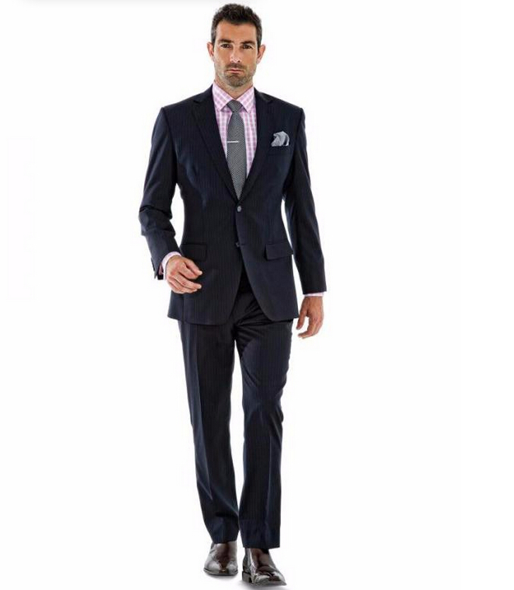Men's suits in the s were wide, wide, wide. Broad shoulders, long jacket, wide lapels, and pinched in waist gave the silhouette of superman. Stripes were in as well as plaids, windowpane, tweed,and herringbone in all colors.