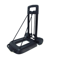 Black opvouwbare hand <span class=keywords><strong>trolley</strong></span> is duurzaam voor 40 kg gewicht bagage