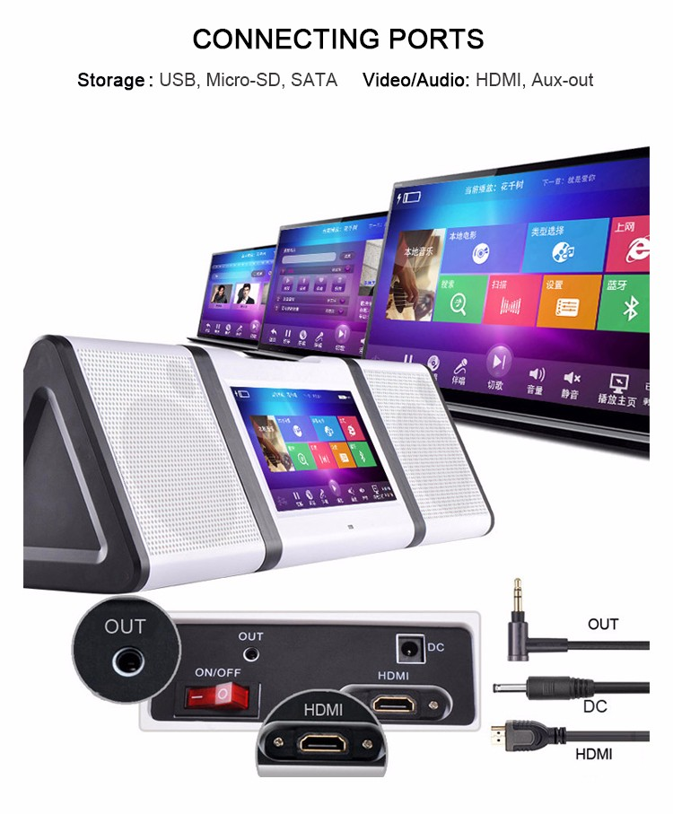 New Karaoke Player with Bluetooth and Video Karaoke Player