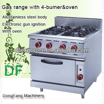 toaster oven combination gas range with 4-bumer with oven
