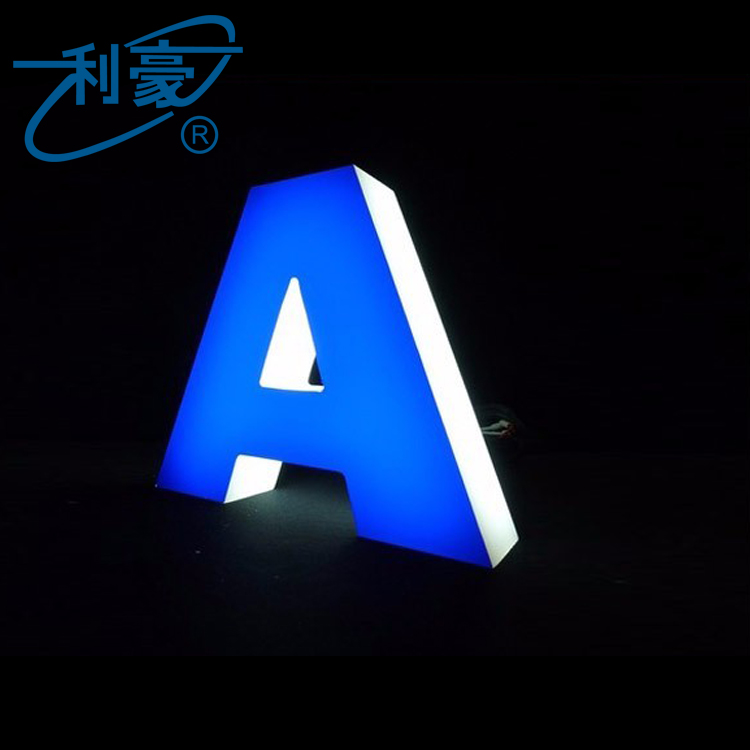 Customized Service metal shop signs illuminated led channel letter sign