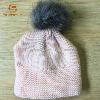 J214 Fur Pom Pom Ball Satin  Silk Lined Baby Kids Hat for Hair Protection 89ed695fc06
