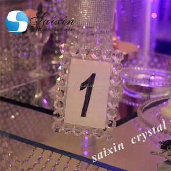 Beautiful Crystal Table Number Frame Put Wedding Table Buy Wedding