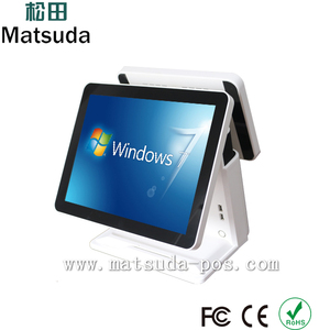 Matsuda factory 15 inch true flat all in one touch i3 pos system/cashier register