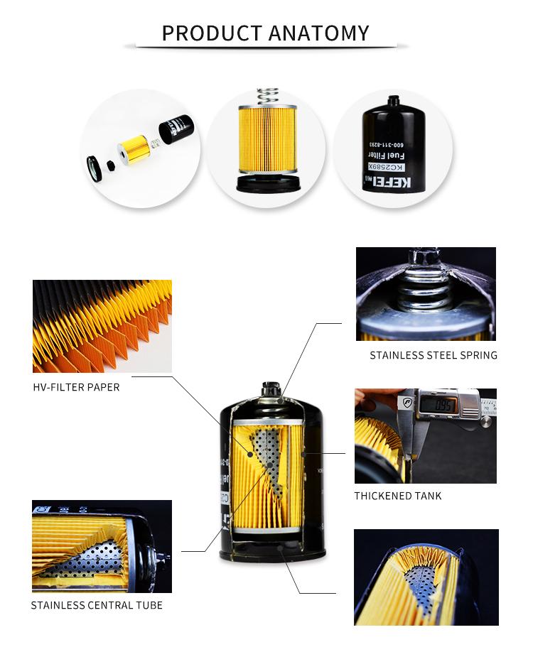 Taille OEM avec filtre de haute qualité utilisation pour HINO machines lourdes enigine P502390 filtre à huile
