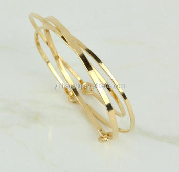 Gold Bangle Set Of 3 Yellow 14k Fill Bracelets Bracelet Bangles