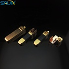 China factory british standard BS electrical switch plug brass 3 pins 13A square plug pins