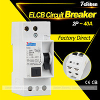Best price rating IEC61008 2P 50/60Hz ELCB earth leakage circuit breaker