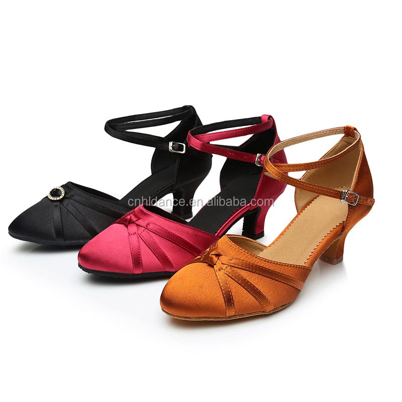 0808200708e33 Alta Qualidade de Cetim Mulheres Sapatos de Dança de Salão Sapatos Latina