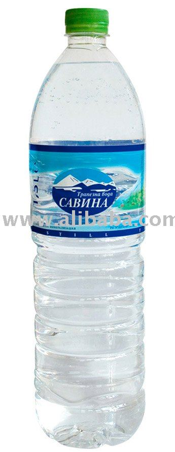 Purified mineral water with minimal contents of salts and minerals