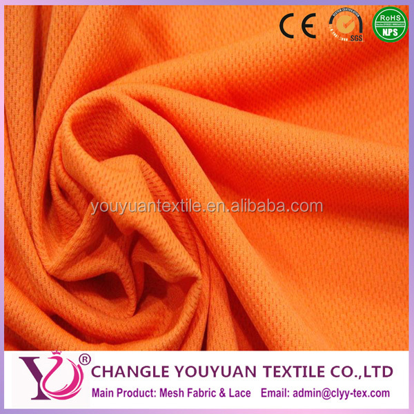 Bright color reflective polyester flat back mesh fabric