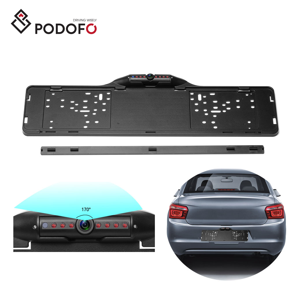 Waterproof Night Vision License Plate Frame Car Rear View Backup Camera Black US